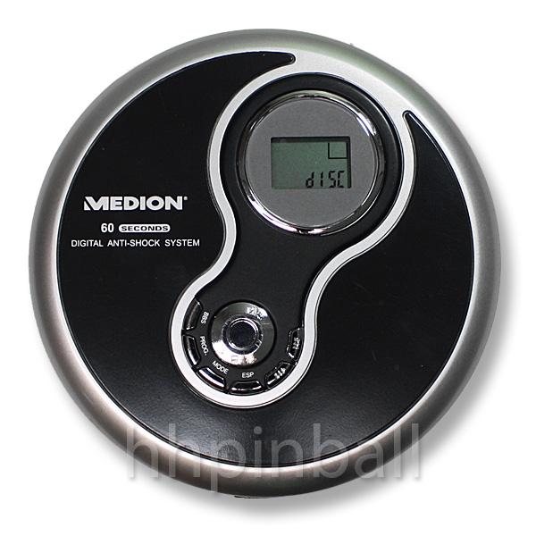medion md83313 tragbarer design cd player discman schwarz umfangr zubeh r ebay. Black Bedroom Furniture Sets. Home Design Ideas