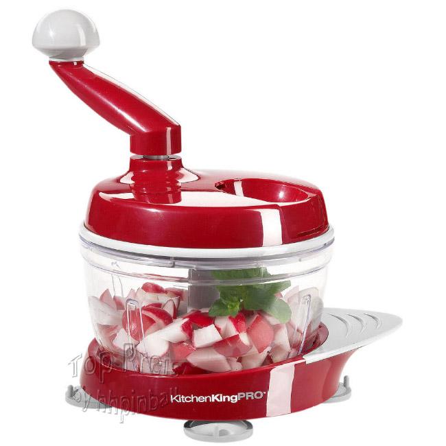 Kitchen King Pro Multi KÜchenhelfer Mixer Hobel RÜhren Rot