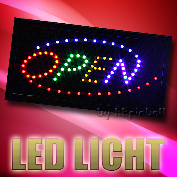 led schild board leuchtschild reklame leuchtreklame stopper licht werbung. Black Bedroom Furniture Sets. Home Design Ideas