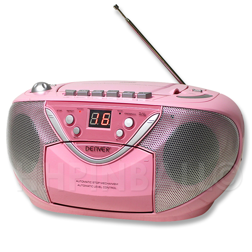 denver tragbarer cd player radio kassettenrekorder boombox. Black Bedroom Furniture Sets. Home Design Ideas