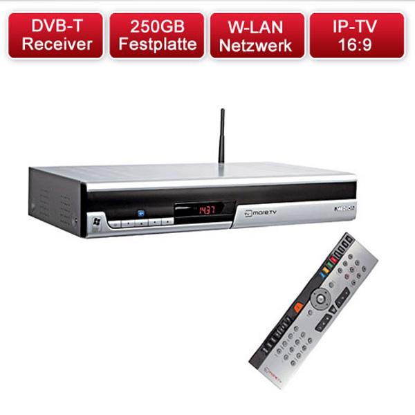 medion internet tv box iptv dvb t receiver recorder 250gb festplatte ebay. Black Bedroom Furniture Sets. Home Design Ideas