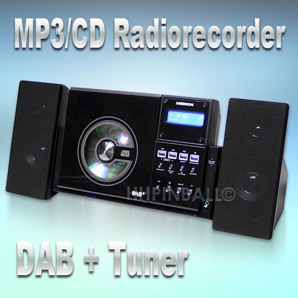 medion sound system mit dab tuner ukw radio cd player bass boost ebay. Black Bedroom Furniture Sets. Home Design Ideas