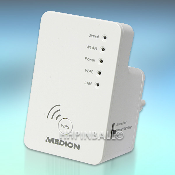 medion wireless lan verst rker wifi accesspoint wlan repeater md86738 ebay. Black Bedroom Furniture Sets. Home Design Ideas