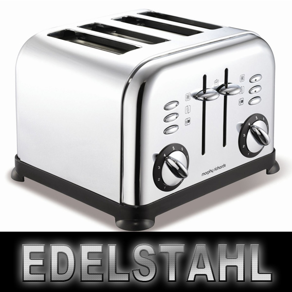 morphy richards 4 scheiben toaster edelstahl retro design hochglanz ebay. Black Bedroom Furniture Sets. Home Design Ideas
