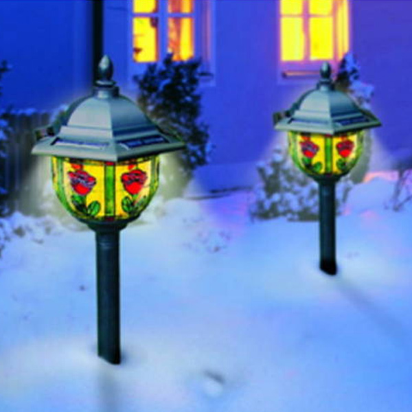 2er set solarlampe tiffany solarleuchte lampe leuchte, Garten Ideen