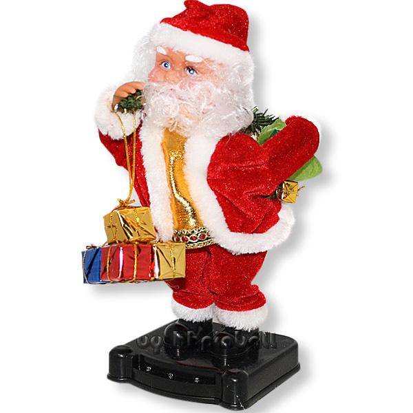 singender weihnachtsmann nikolaus led xmas santa claus ebay. Black Bedroom Furniture Sets. Home Design Ideas