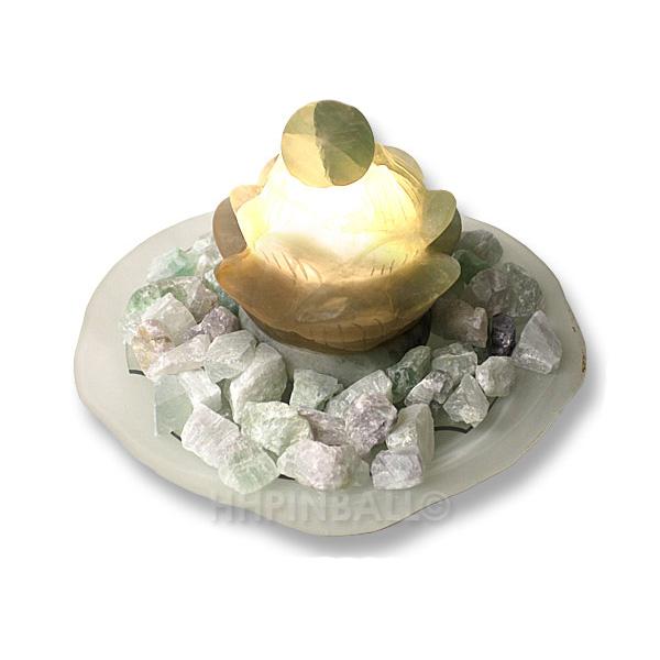 zimmerbrunnen fluorit lotusbl me brunnen wasserspiel mit licht luftbefeuchter ebay. Black Bedroom Furniture Sets. Home Design Ideas