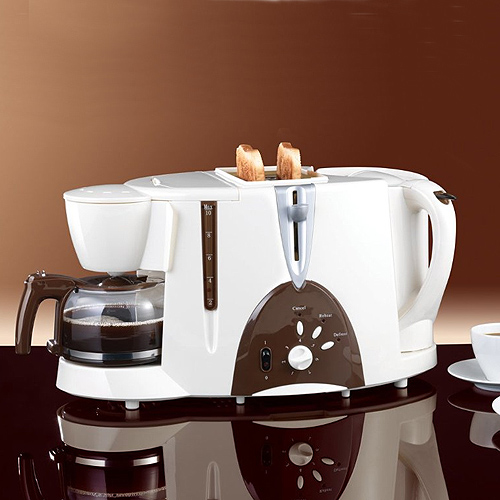 maxx cuisine 3 in 1 fr hst ckscenter kaffeemaschine toaster wasserkocher braun ebay. Black Bedroom Furniture Sets. Home Design Ideas