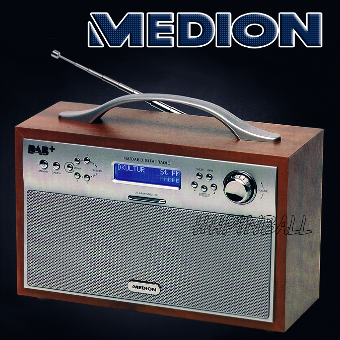 Details Zu MEDION MD 82439 DIGITAL DAB  FM RADIO STEREO HOLZ RETRO on jrac