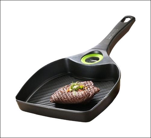 perfect steak bratpfanne pfanne aluguss mit timer ebay. Black Bedroom Furniture Sets. Home Design Ideas
