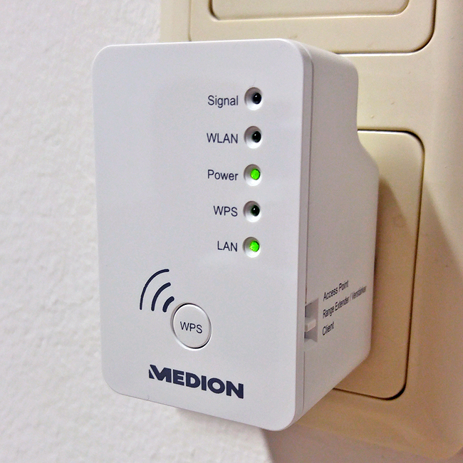 medion md87119 wlan verst rker repeater access point wireless router client ebay. Black Bedroom Furniture Sets. Home Design Ideas