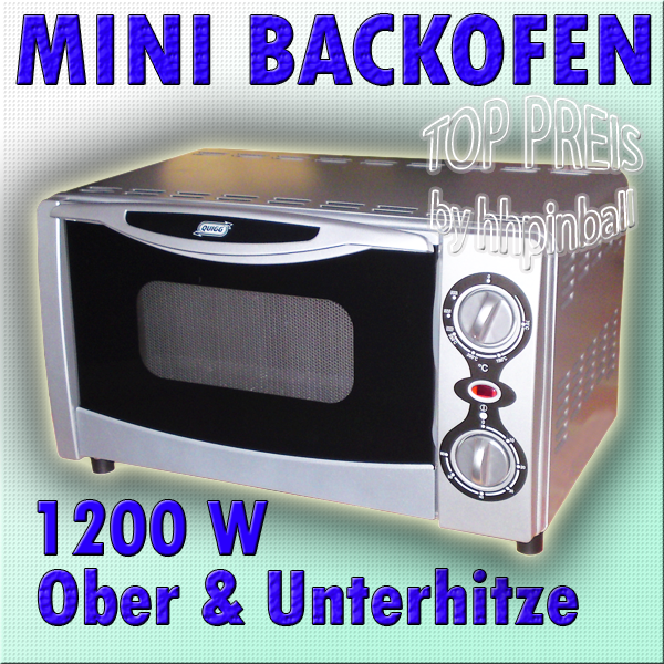 quigg mini backofen md 12670 12l oberunterhitze bware ebay. Black Bedroom Furniture Sets. Home Design Ideas