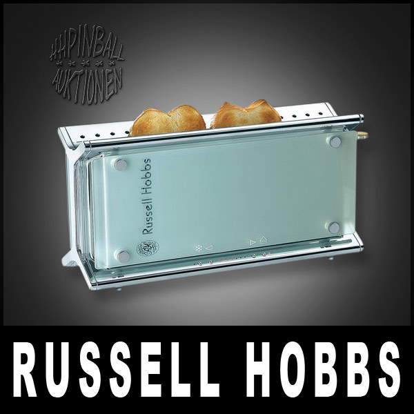 russell hobbs glass line design toaster edelstahl edel ebay. Black Bedroom Furniture Sets. Home Design Ideas