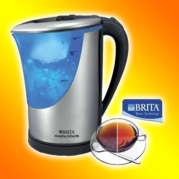 morphy richards wasserkocher mit brita filter 43539 neu ebay. Black Bedroom Furniture Sets. Home Design Ideas
