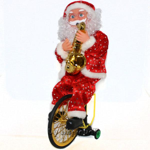 weihnachtsmann mit saxophon bewegliche figur