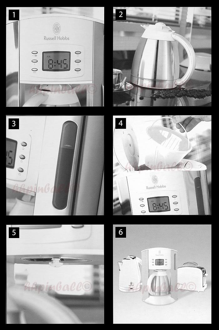 russell hobbs white style kaffeemaschine edel wei mit edelstahl thermokanne ebay. Black Bedroom Furniture Sets. Home Design Ideas